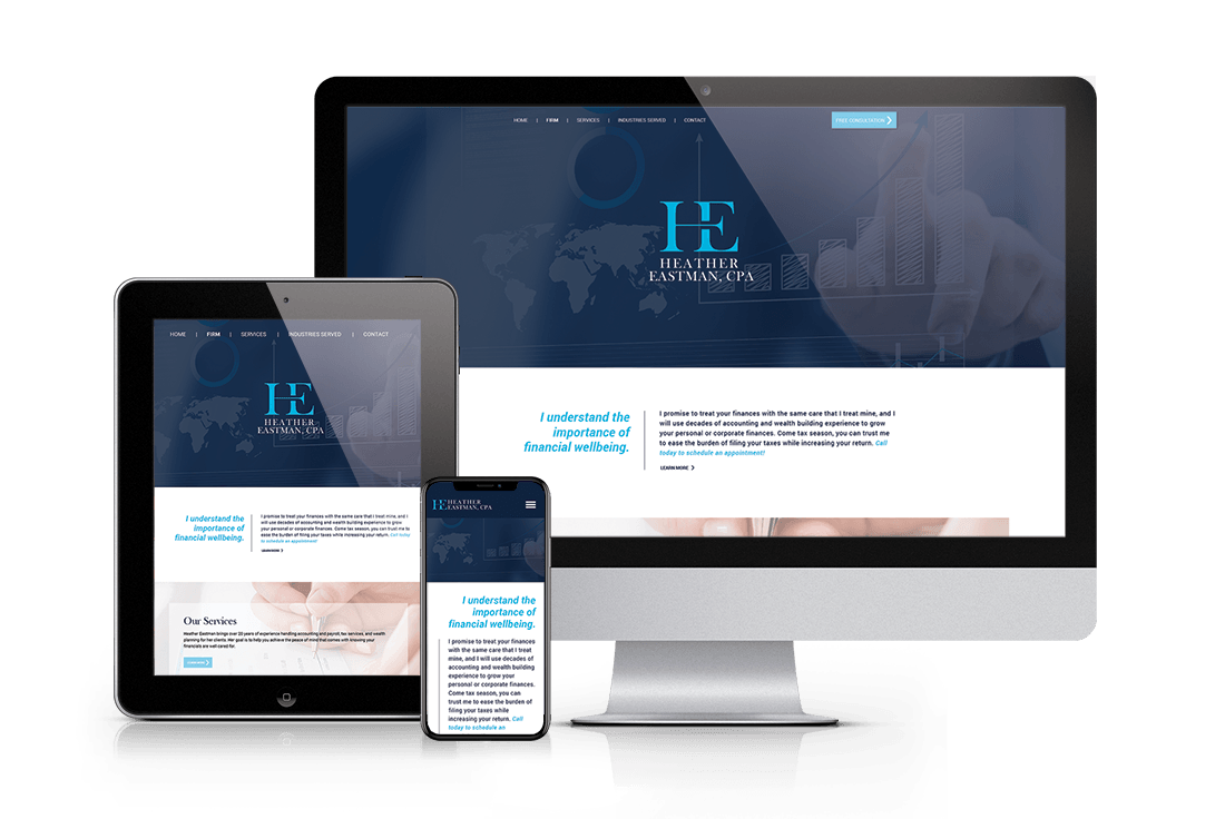 Responsive website examples of the Bespoke H. Eastman