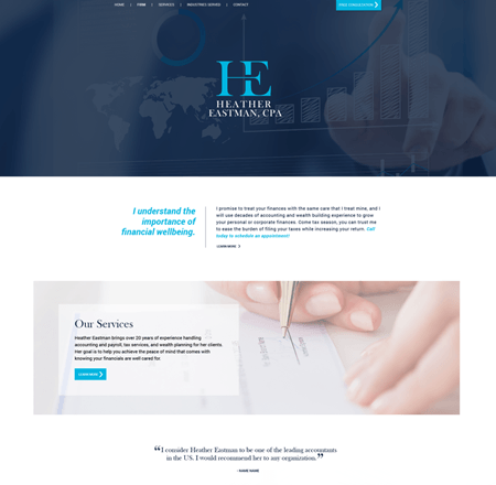Bespoke - Tailored Websites - H. Eastman